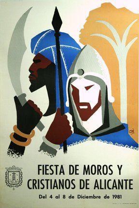 Chisholm Larsson Gallery | Original Vintage Posters | CL53174: Fiesta de Moros Y Cristianos De Alicante