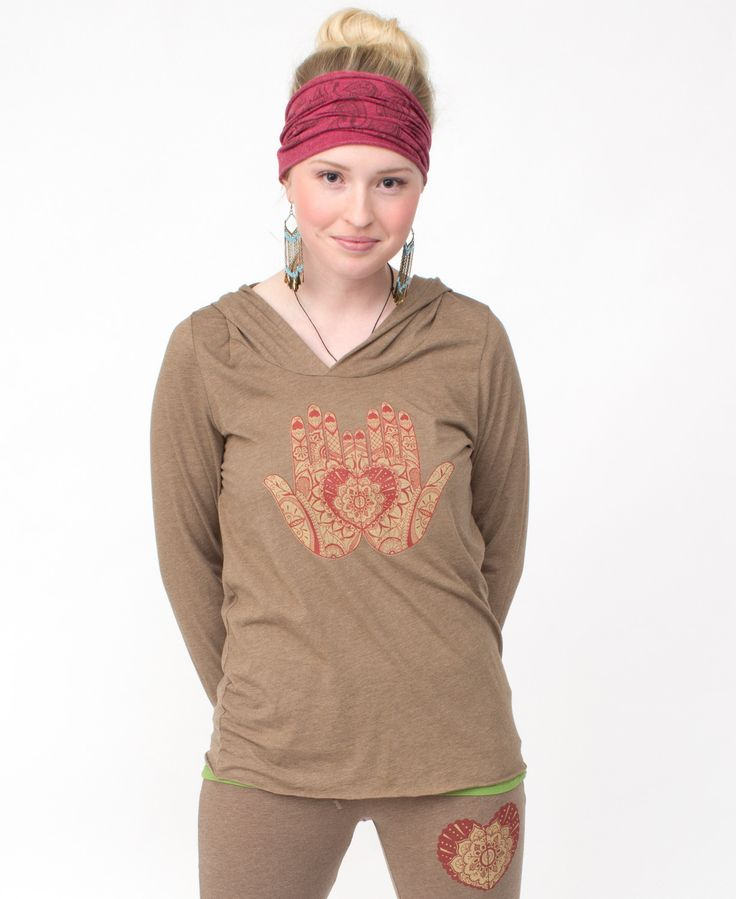 Mehndi Organic Cotton Yoga Hoody: Soul Flower Clothing