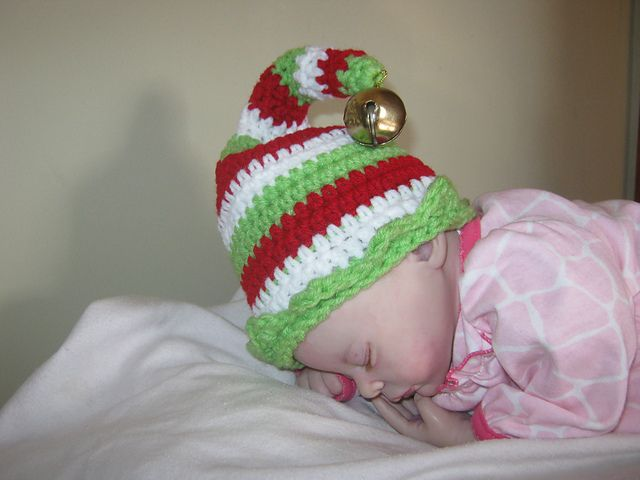 Ravelry: CandidQuilts' Elf Hat with Jingle Bell and Curved Tip