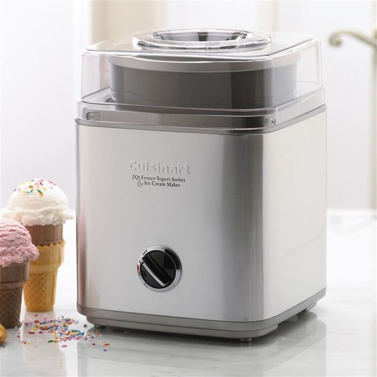 What's better than a quart of luscious homemade ice cream, sorbet or frozen yogurt? Two quarts! The fully automatic Cuisinart® Pure Indulgence™ makes your favourite frozen desserts or drinks in as little as 25 minutes. It's easy - an integrated motor, double-insulated freezer bowl and automatic mixing paddle do all the work. Results are consistently smooth, cleanup is easy, and the brushed stainless styling is simply sensational!