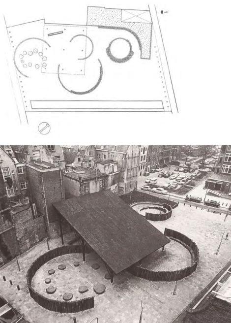 Campo de Jogos Aldo Van Eyck. Nieuwmarkt, Amsterdã, Holanda. 1968.