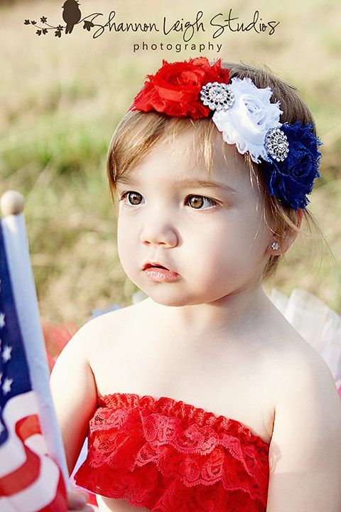 So cute! Fourth+Of+July+Headband+From+The+Sweet+by+ASweetSweetBoutique,+$15.00