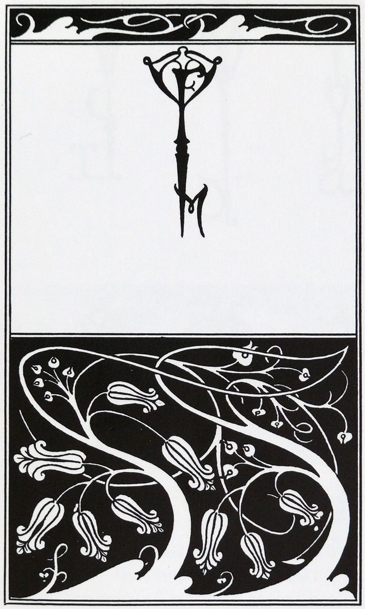 Title page and key monogram of The Mountain Lover - Aubrey Beardsley