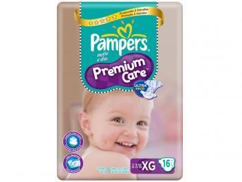 Fraldas Pampers Premium Care Pacotão XG - 16 Unidades