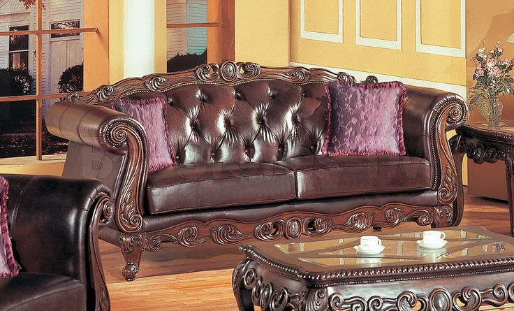 French Provincial Bonded Leather Sofa Family Room Pinterest - barock mobel versailles sofa