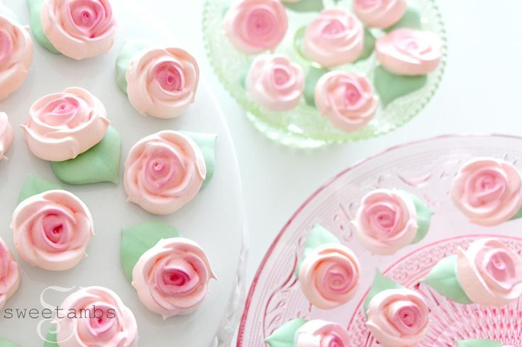 Rose Meringue Cookies for Mother's Day