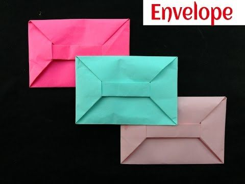 Origami Paper 'Envelope' - A4 sheet (No Glue or Tape) - YouTube