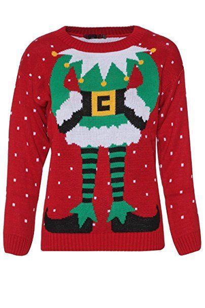 Weihnachtspullover; Damen Pullover; abgefahrenes Muster; Grinch