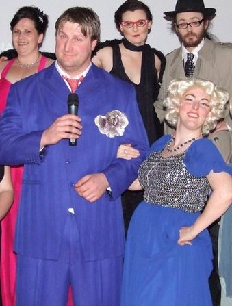 LOL Yes we also love to do a bit of acting to, our business before scentsy was a #murdermystery company, we couldn't just hang around in the background though, we always had to be putting on the costumes and getting on the stage ourselves #workingandhavingfun #murdermysteries  #bluesuit
