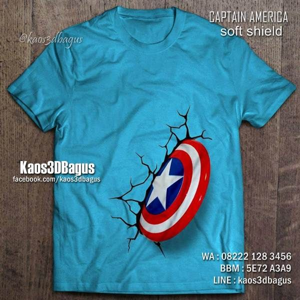 Kaos TAMENG CAPTAIN AMERICA 3D, Kaos 3D Captain America, Kaos Anak Tema CAPTAIN AMERICA, http://instagram.com/kaos3dbagus, WA : 08222 128 3456, BBM : 5E72 A3A9, LINE : KAOS3DBAGUS