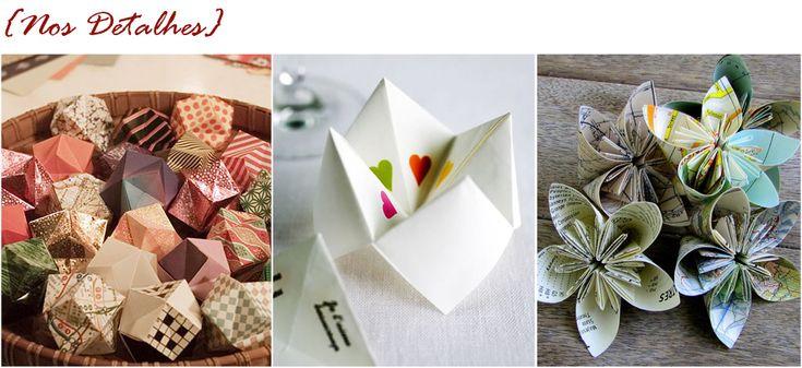 Origamis na decoração seu Casamento   Mariée: Inspiração para Noivas e Casamentos