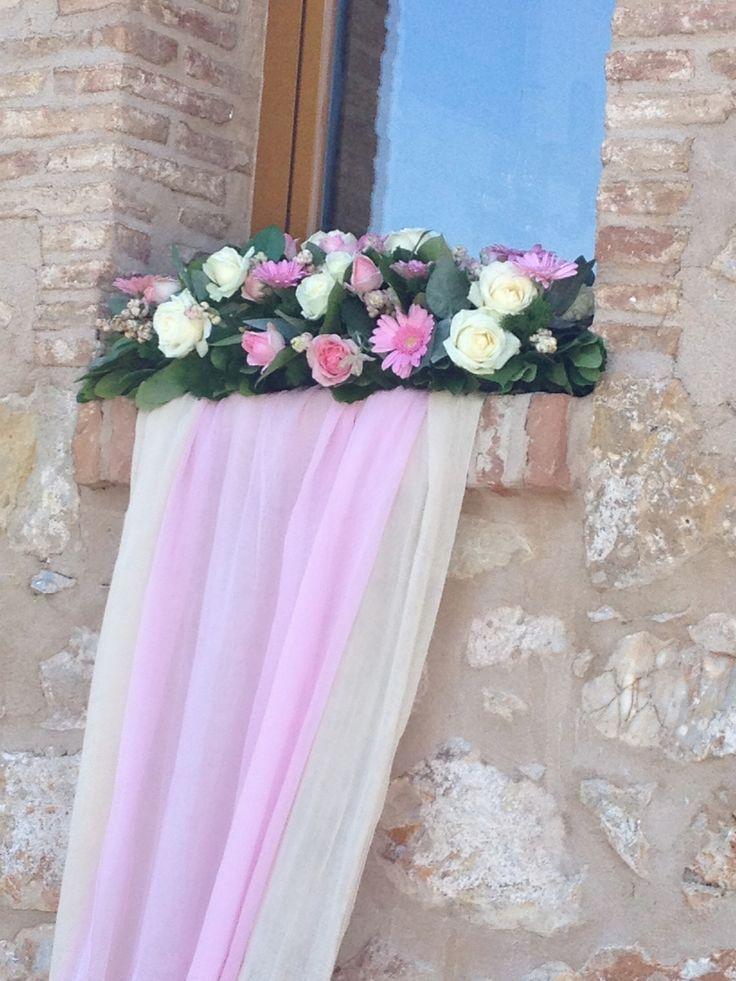 στολισμος βάπτισης εκρού ροζ παστελ με τριαντάφυλλα και ζέρμπερες