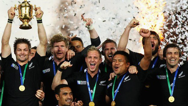 New Zealand lift the World Cup in 2011 - Rugby World Cup 2015 Fixtures and Groups