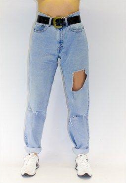 Vintage Shredded USA Guy Fit Jeans