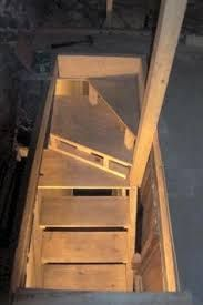 Image result for narrow angle attic stairs plans