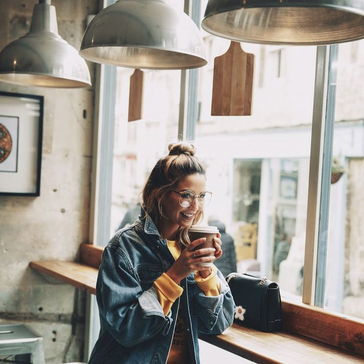 Coffee shops and oversized denim!