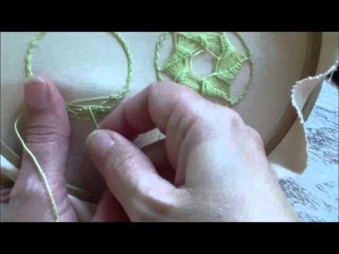 Puncte si cusaturi ornamentale - Broderie pe două puncte - YouTube