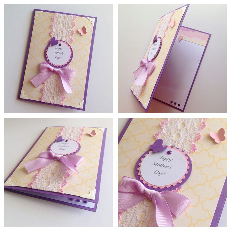 Ribbon & Lace Mother's Day card