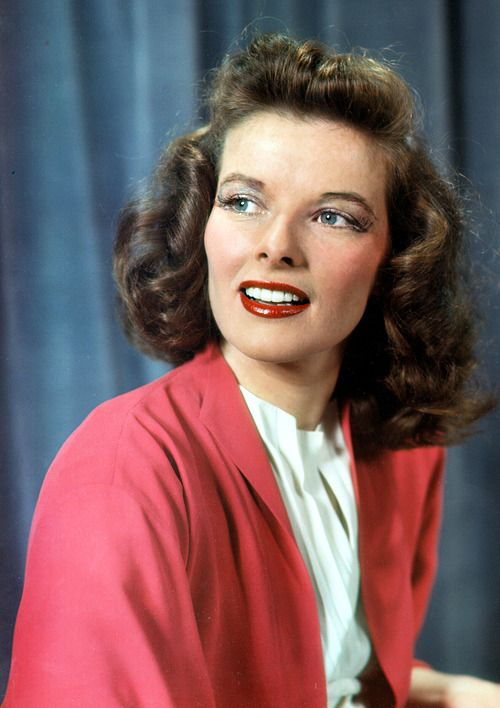 Katharine Hepburn in costume as Tracy Lord for the Broadway production of The Philadelphia Story, 1939