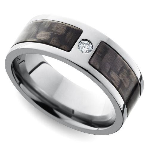 Trending Diamond Accent Carbon Fiber Men us Wedding Ring in Titanium https brilliance