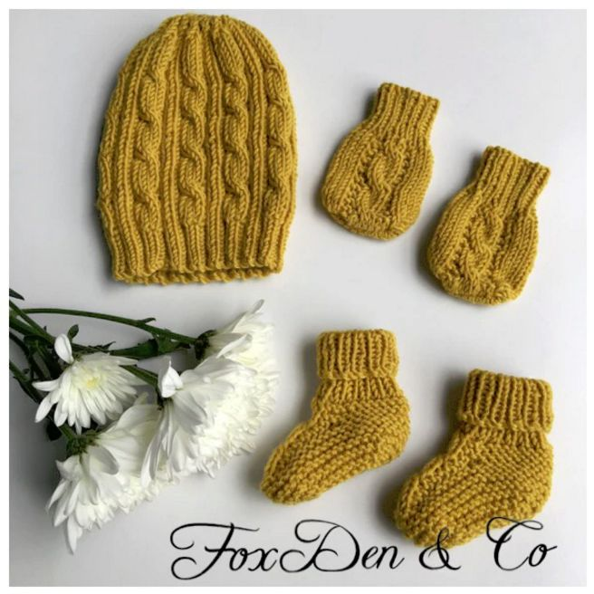 Cable Knit Newborn Set