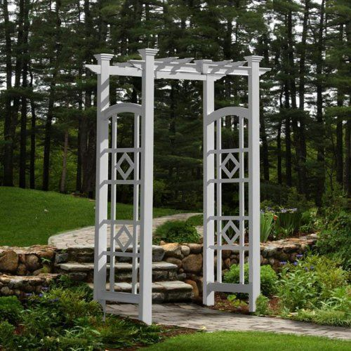 Eden Monaco Arbor by Eden. $379.99. WHAT'S INCLUDED:  Arbour  You love style, but you want to be unique. You can pull things off that not everyone can. So of course you don't want an arbor like everyone else in the neighborhood. We've got a solution for this dilemma. You need The Monaco Arbor. It's modern with a flat top design and decorative side panels. And here's the icing on the cake: it's easy to assemble, virtually maintenance free and comes with ground stakes for ...