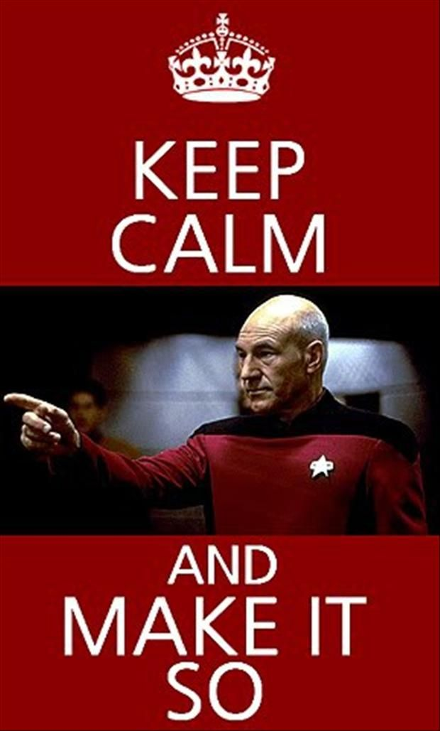 Keep Calm and Make It So  #StarTrek #TNG #CaptainPicard