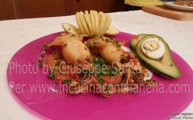 ricetta calamari ripieni di Platano impastato #cucina #ricette #ricette #sudamericane