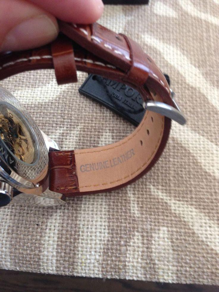 Emporio Moda Italia Watch, Leather, New, Water Resistant Hand-winding #LuxuryDressStyles
