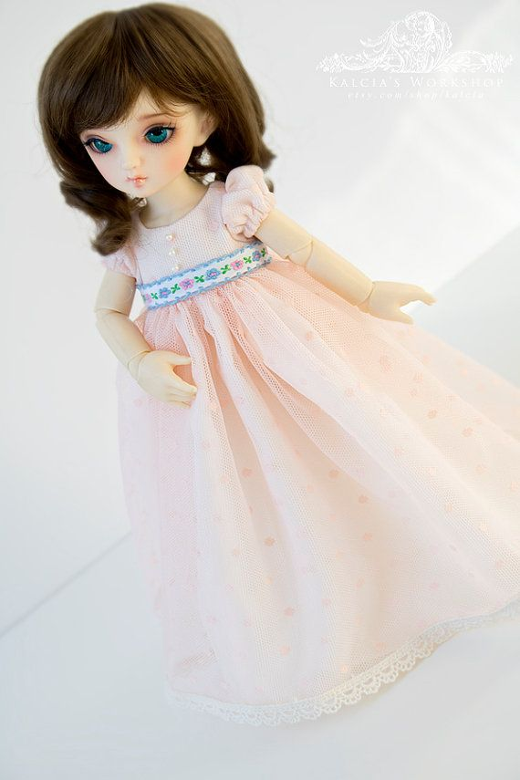 regency style dress for YoSD tiny super dollfie dolls by kalcia