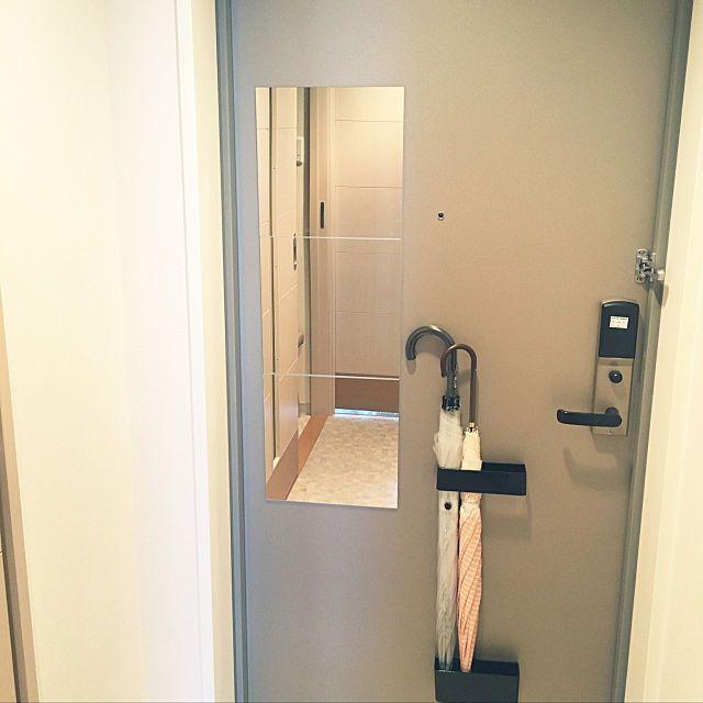 全身鏡 Ikeaの鏡 賃貸 玄関 入り口 ミラー などのインテリア実例 2019 02 17 10 33 49 Roomclip ルームクリップ インテリア 実例 インテリア 鏡