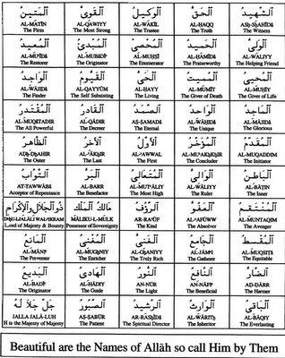 Islamic World: 99 Names Of ALLAH-2