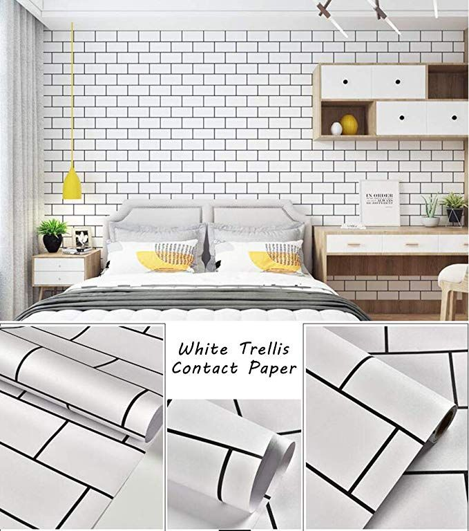 Trellis White Wallpaper White Wall Paper White Contact Paper Decorative Peel And Stick Wallpap White Brick Wallpaper Wall Wallpaper White Wallpaper