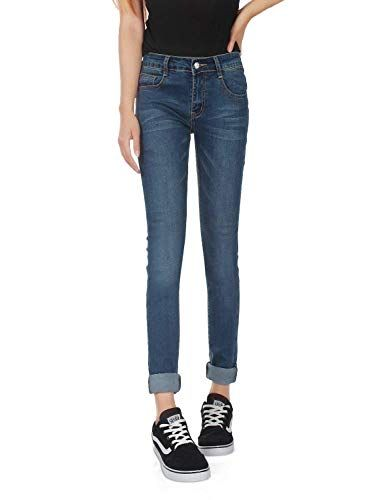 2d51eff5cdc6 Yasminey Pantalon Slim en Jean À La Mode Femmes Les Poches Vêtements Chics  À l