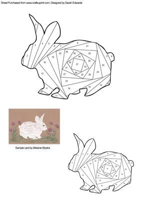 Rabbit Iris Folding Pattern on Craftsuprint designed by Sarah Edwards - An iris folding pattern of a rabbit. The pattern comes in two sizes to suit your crafting projects. - Now available for download!
