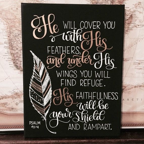 Bible Verse Scripture Decor Hand Lettered by HandletteredTruth
