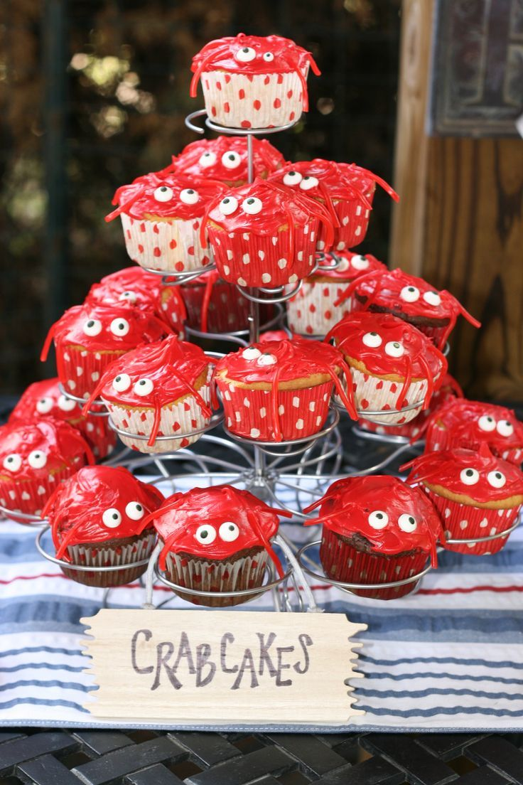 "crab feed themes | Crab cakes"" for Reed's first birthday 
