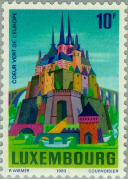 Stamp: Luxembourg, green heart of Europe