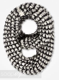 EastEnders Stacey Branning // Lacey Turner // Stacey's Black & White Fluffy Snood - Multiple Episodes [ Click photo for details ❤ ]