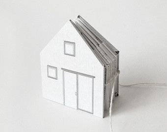 Paper House small illustrated pop-up book 3/16 scale by pipsawa