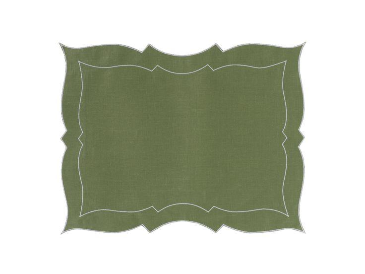Tovaglietta - Placemat Parentesi Rettangolare - 079 green