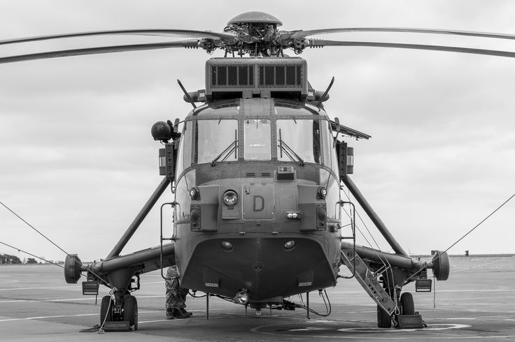 https://flic.kr/p/oz3Nsx | Westland Sea King | The Westland WS-61 Sea King is a British licence-built version of the American Sikorsky S-61 helicopter of the same name, built by Westland Helicopters. The aircraft differs considerably from the American version, with Rolls-Royce Gnome engines (derived from the US General Electric T58), British-made anti-submarine warfare systems and a fully computerised flight control system. The Sea King was primarily designed for performing anti-submarine…