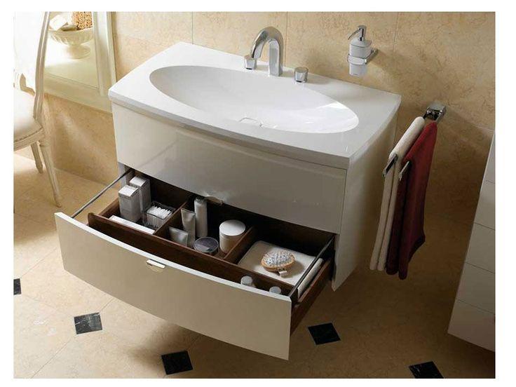 Напольные тумбы под раковину: в чем их особенности?   Хорошо подходят для небольших ванных комнат, так как совмещают в себе и подставку для раковины и шкаф для хранения.  Позволяют скрыть сливные трубы и подводящие воду шланги.  Создают единую композицию с раковиной, что выглядит очень гармонично. Рекомендуем  #смесители #сантехника #дизайн #ванна