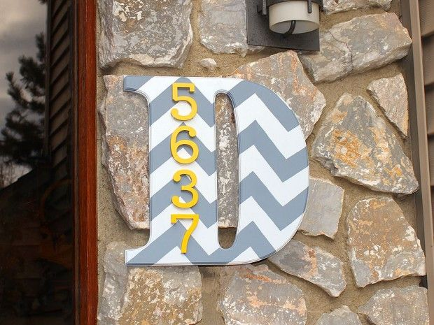 House Number Monogram- Woodworking: 17 Great DIY Home Decor Projects