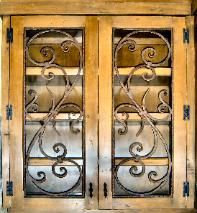 wrought iron cabinet insert -Tuscan Cabinet Scrolls