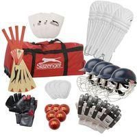 SLAZENGER-SPORTS-Cricket-Slazenger U 15 Kit Cricket Bag-£209.99-Slazenger U 15 Kit Cricket Bag  The Slazenger U 15 Kit Cricket Bag is an ideal start-up set for youth players. This Slazenger cricket set  includes bats, batting pads, helmets, abdo guards, batting gloves, balls, thigh pads, wicket keeper gloves and pads all contained in a large holdall.    > Cricket bag kit  > 2 x Mens batting pads  > 2 x Youths batting pads  > 2 x Mens helmets  > 2 x Junior helmets  > 2 x Mens abdomen guards…
