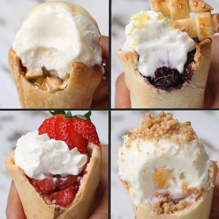 Pie Cones 4 Ways by Tasty