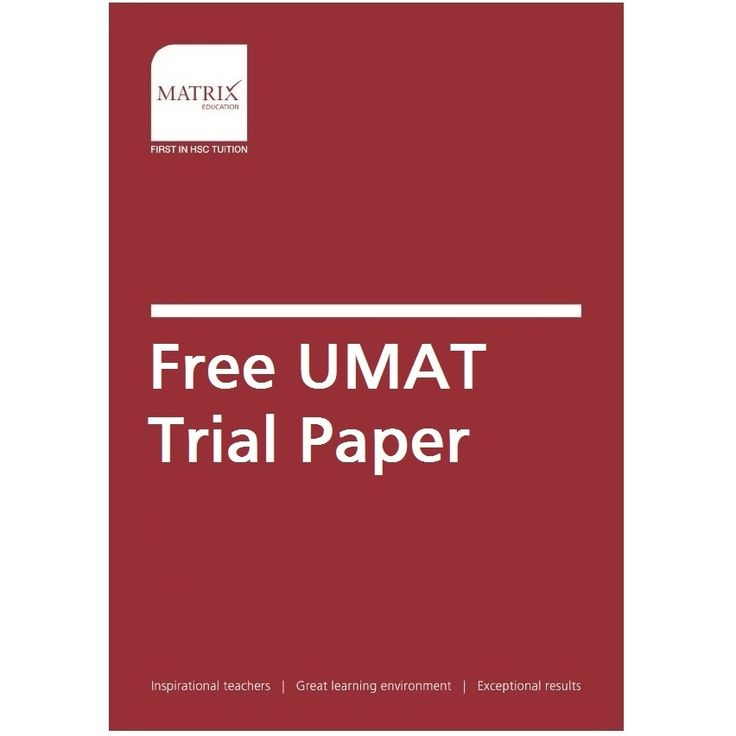 UMAT is used to assist in the selection of students into medicine, dentistry and health science degree programs. Download your free UMAT paper now!