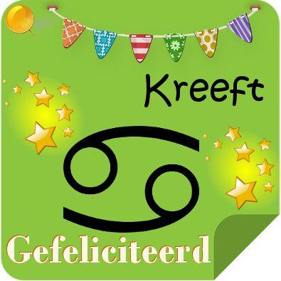 Gefeliciteerd sterrenbeeld Kreeft