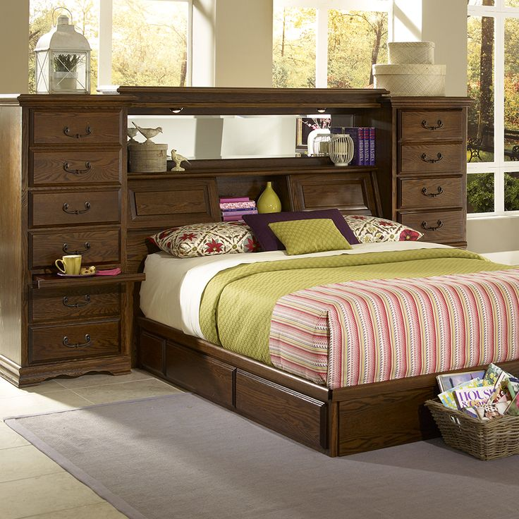 The mid wall by furniture traditions has plenty of storage - Bedroom sets with hidden compartments ...